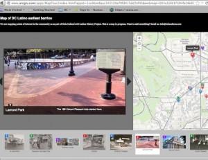 Mapa de la historia de los barrios latinos de Washington, D.C
